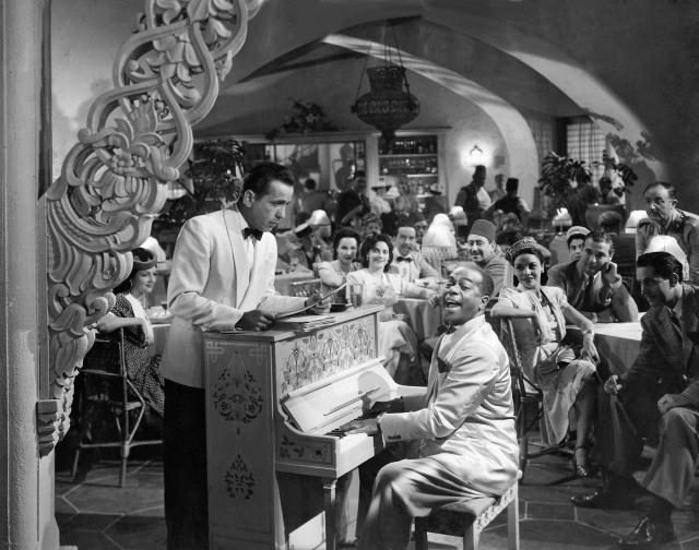 humphrey bogart & dooley wilson - casablanca 1943